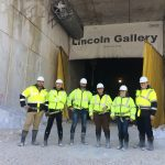 The Group in front of the Entrance to the Lincoln Gallery