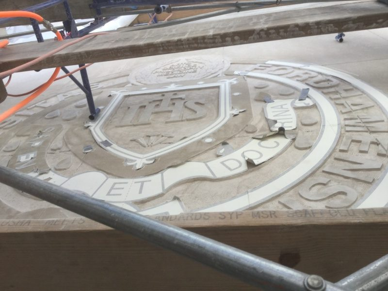 Fordham Seal Carving