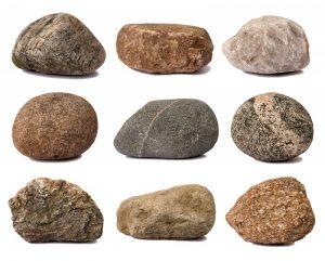 Variety of stones
