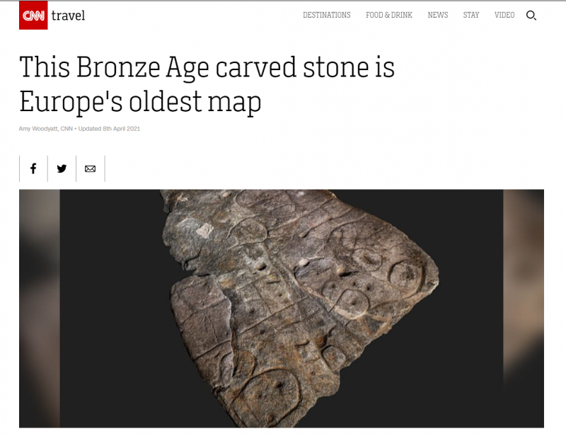 Oldest map of Western Brittany